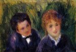 young man and young woman by pierre auguste renoir painting-26614
