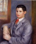 pierre auguste renoir young man in a red tie portrait of eugene renoir painting 26615