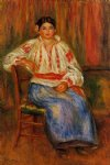young roumanian by pierre auguste renoir painting
