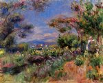 pierre auguste renoir young woman in a landscape cagnes painting 26629