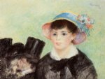 young woman in a straw hat iv by pierre auguste renoir painting