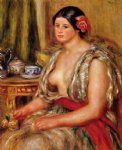 oriental paintings - young woman seated in an oriental costume by pierre auguste renoir
