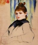 pierre auguste renoir young woman with a bun in her hair painting