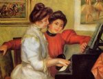 pierre auguste renoir yvonne and christine lerolle at the piano oil painting