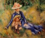pierre auguste renoir yvonne and jean painting
