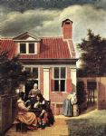 village house by pieter de hooch painting