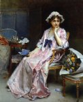 the love letter by raimundo de madrazo y garreta painting