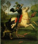 raphael saint george and the dragon painting