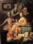 rembrandt van rijn music workshop painting