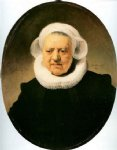 portrait paintings - portrait of aechje claesdr by rembrandt van rijn