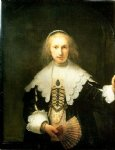 portrait paintings - portrait of agatha bas by rembrandt van rijn