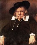portrait paintings - portrait of an elderly man by rembrandt van rijn