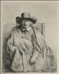portrait paintings - portrait of clement de jonge by rembrandt van rijn
