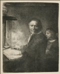 portrait paintings - portrait of lieven willemsz van coppenol by rembrandt van rijn
