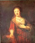 rembrandt van rijn portrait of saskia with a carnation painting 25715