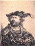 rembrandt van rijn rembrandt in velvet cap and plume paintings