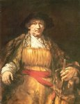 portrait paintings - self portrait 15 by rembrandt van rijn