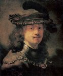 portrait paintings - self portrait 20 by rembrandt van rijn