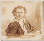 portrait paintings - self portrait 8 by rembrandt van rijn