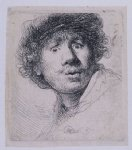 rembrandt van rijn self portrait with a cap openmouthed painting 25765
