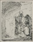 st. peter and st. john at the gate of the temple by rembrandt van rijn painting