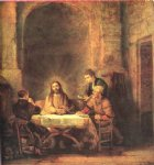 rembrandt van rijn supper at emmaus painting