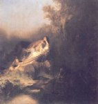 rembrandt van rijn the abduction of proserpina painting
