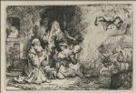 rembrandt van rijn the angel asceding from tobit and his family paintings