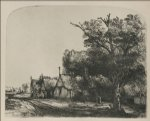 the three cottages by rembrandt van rijn painting