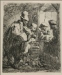 rembrandt van rijn the travelling musicians painting