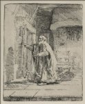 dog oil paintings - tobit blind with the dog by rembrandt van rijn