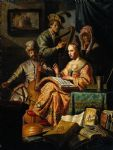musical allegory by rembrandt painting