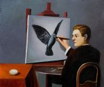 rene magritte la clairvoyance painting