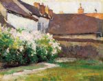 afternoon shadows grez france by robert vonnoh painting