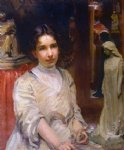 portrait paintings - portrait of bessie potter vonnoh by robert vonnoh