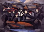 landscape at ferte by roger de la fresnaye painting