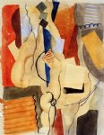 roger de la fresnaye smoking in the shelter painting