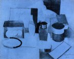 still life tin of tea and pot of tobacco by roger de la fresnaye painting