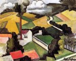 roger de la fresnaye the factory chimney meulan landscape painting 25353