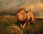 lion and prey by rosa bonheur painting