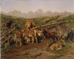 weaning the calves by rosa bonheur painting