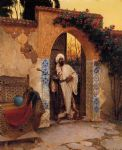rudolf ernst paintings - by the entrance by rudolf ernst