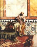 gnaoua in a north african interior by rudolf ernst painting-79224