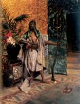 harem guard by rudolf ernst painting-79389