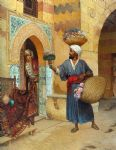 the flower seller by rudolf ernst painting-83598