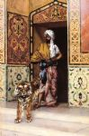 the pasha s favourite tiger by rudolf ernst painting-84010