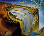 melting watch by salvador dali painting