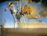 the temptation of st. anthony by salvador dali painting