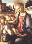 sandro botticelli madonna and child and two angels painting-25221
