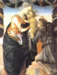 sandro botticelli madonna and child with an angel painting-25224
